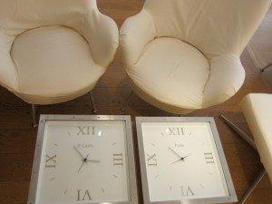 時鐘設計的茶几,是酒店的另一特色。
