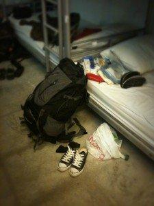 掉棄了廿多公斤的行李箱,變成十多公斤的背包友。