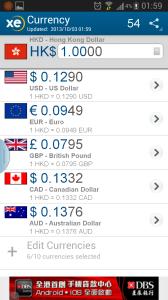10. XE Currency:匯率計算器,出門傍身不可少。