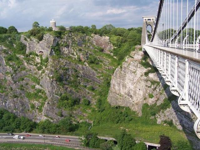 Clifton Suspension Bridge, 位於Bristol。