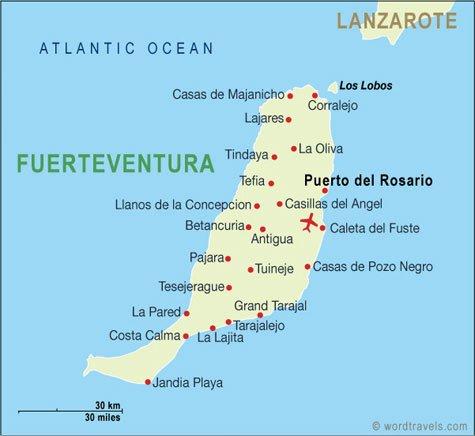 Fuerteventura的首都是Puerto del Rosario。