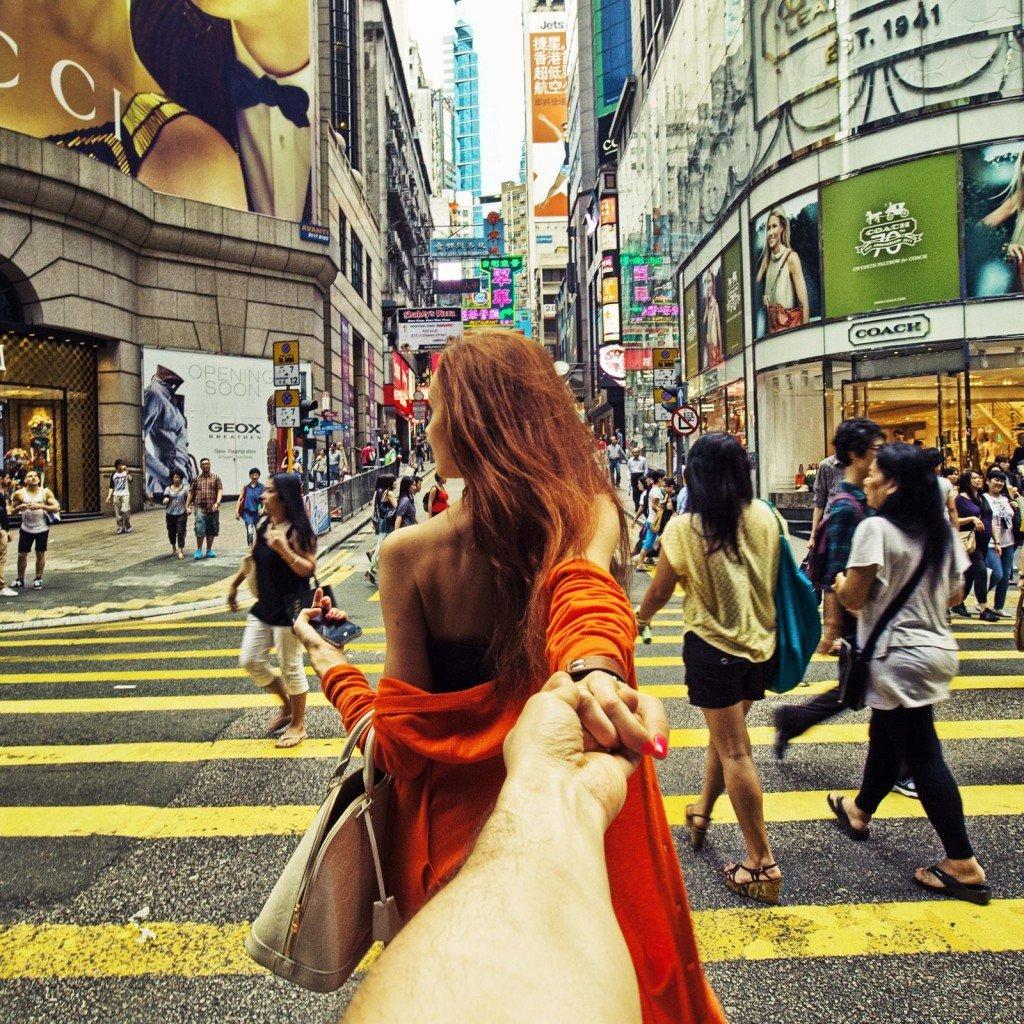 牽著手來香港!攝於2014年5月19日。
