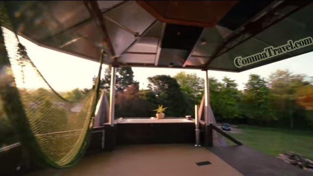 設有天台,可以邊浸浴邊欣賞日落,還有吊床!!